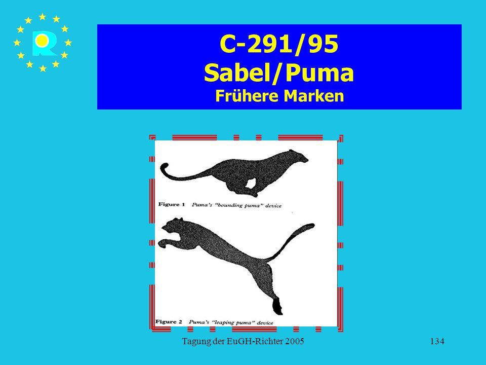 Tagung der EuGH-Richter 2005134 C-291/95 Sabel/Puma Frühere Marken