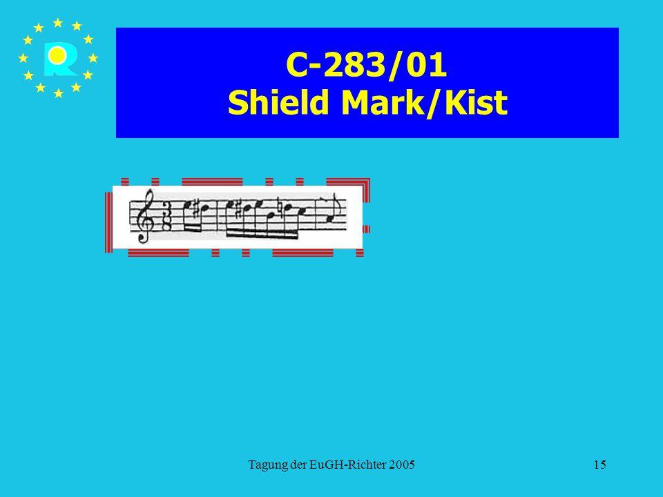 Tagung der EuGH-Richter 200515 C-283/01 Shield Mark/Kist