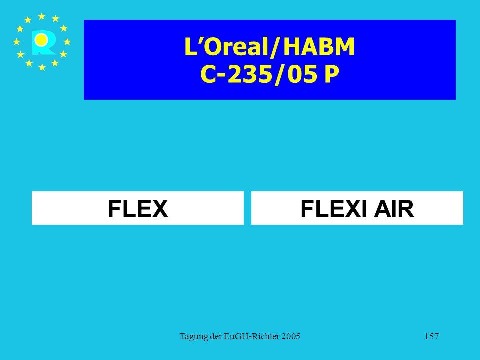 Tagung der EuGH-Richter 2005157 L'Oreal/HABM C-235/05 P FLEXFLEXI AIR