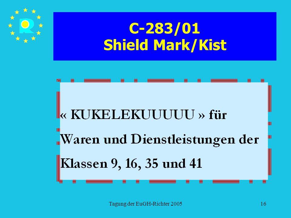 Tagung der EuGH-Richter 200516 C-283/01 Shield Mark/Kist