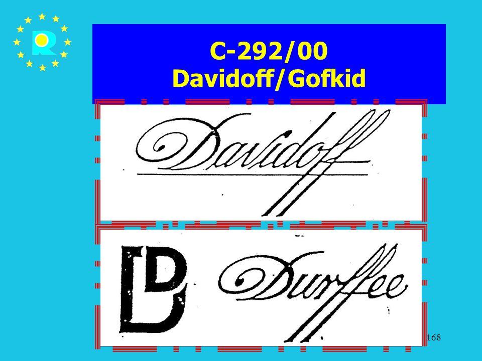 Tagung der EuGH-Richter 2005168 C-292/00 Davidoff/Gofkid