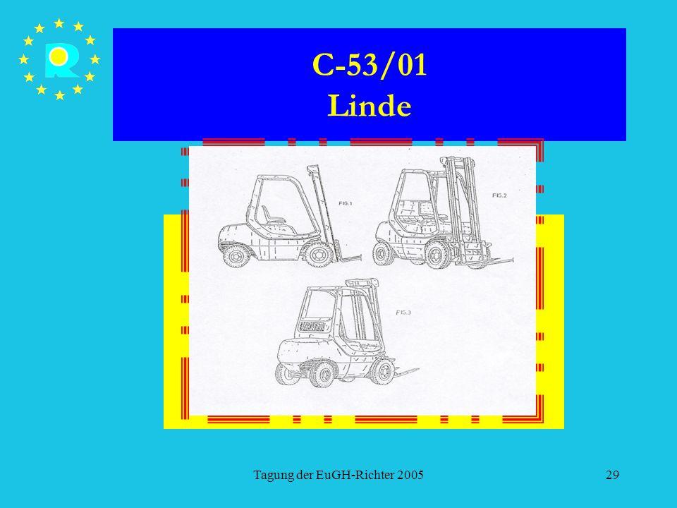 Tagung der EuGH-Richter 200529 C-53/01 Linde