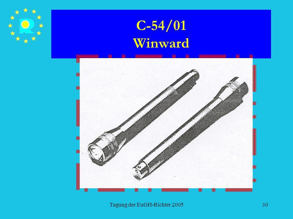 Tagung der EuGH-Richter 200530 C-54/01 Winward