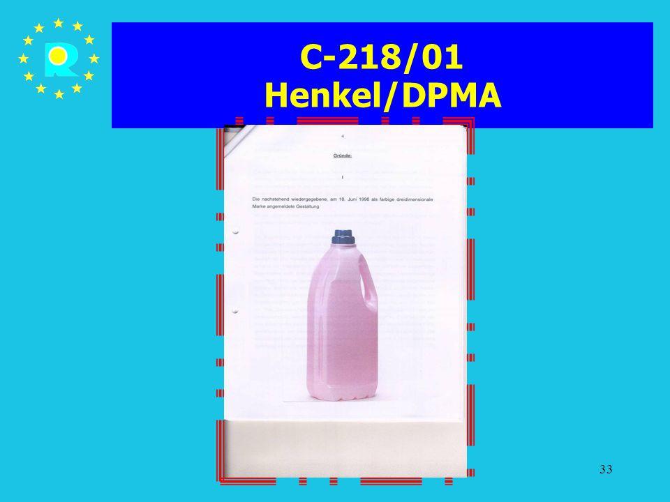 Tagung der EuGH-Richter 200533 C-218/01 Henkel/DPMA
