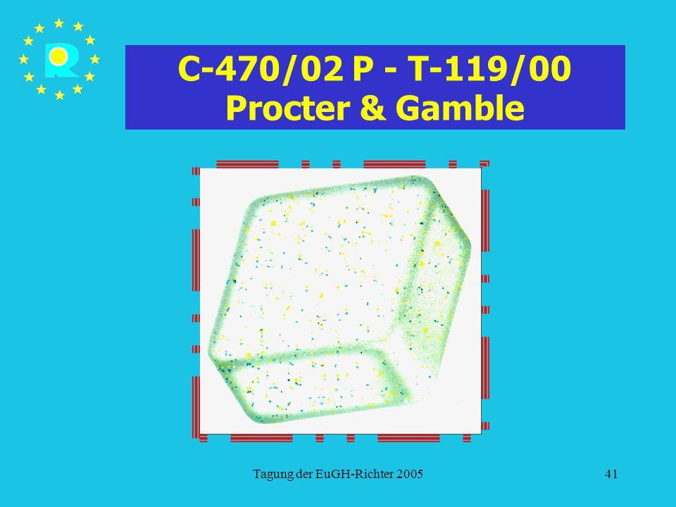 Tagung der EuGH-Richter 200541 C-470/02 P - T-119/00 Procter & Gamble
