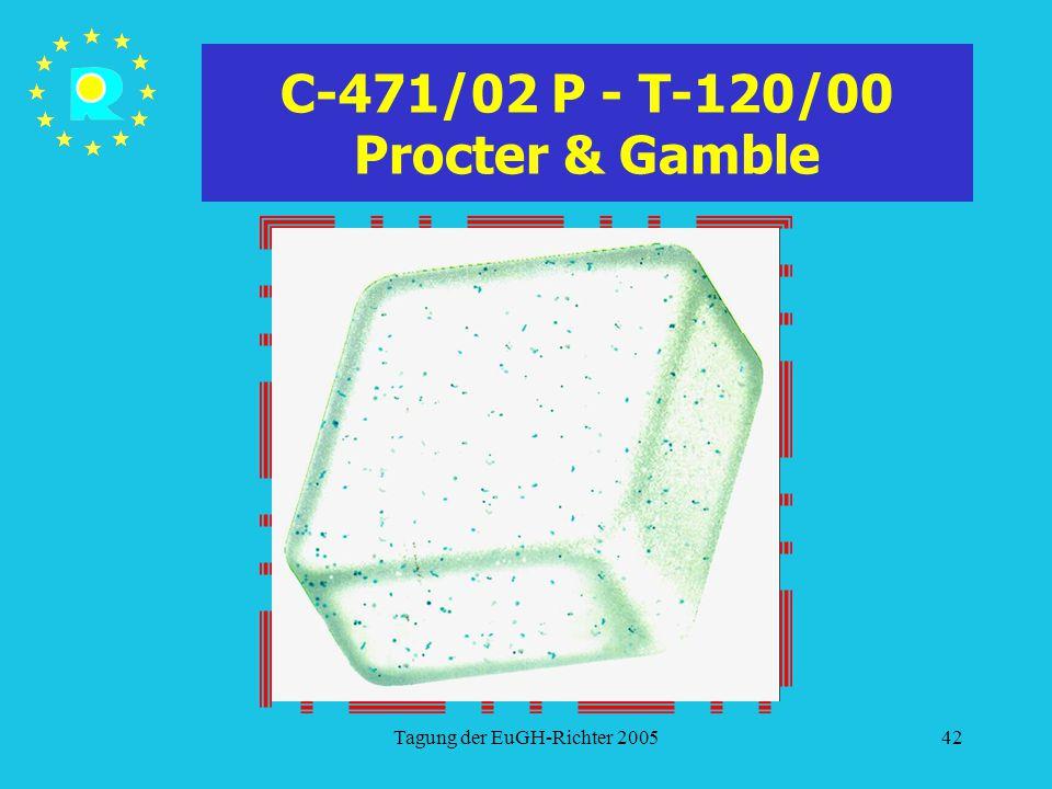 Tagung der EuGH-Richter 200542 C-471/02 P - T-120/00 Procter & Gamble