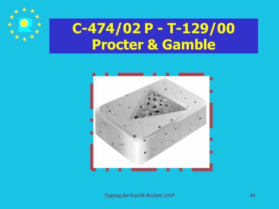 Tagung der EuGH-Richter 200546 C-474/02 P - T-129/00 Procter & Gamble