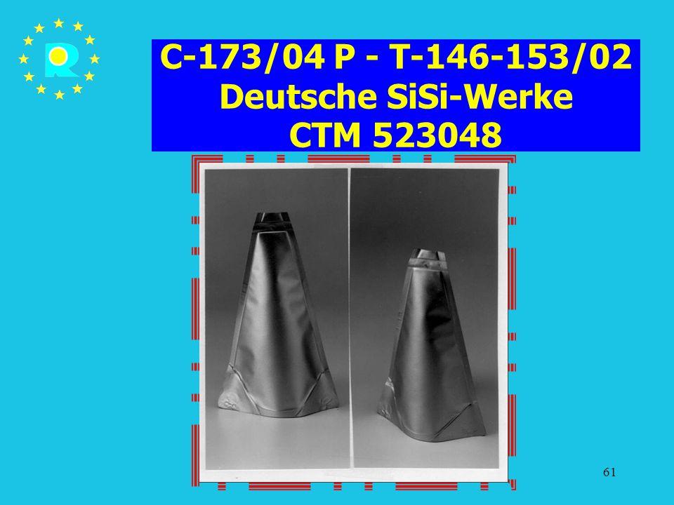 Tagung der EuGH-Richter 200561 C-173/04 P - T-146-153/02 Deutsche SiSi-Werke CTM 523048