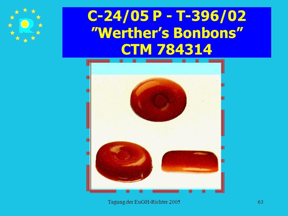 "Tagung der EuGH-Richter 200563 C-24/05 P - T-396/02 ""Werther's Bonbons"" CTM 784314"