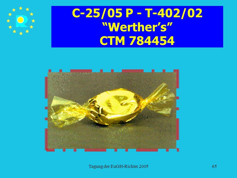 """Tagung der EuGH-Richter 200565 C-25/05 P - T-402/02 """"Werther's"""" CTM 784454"""