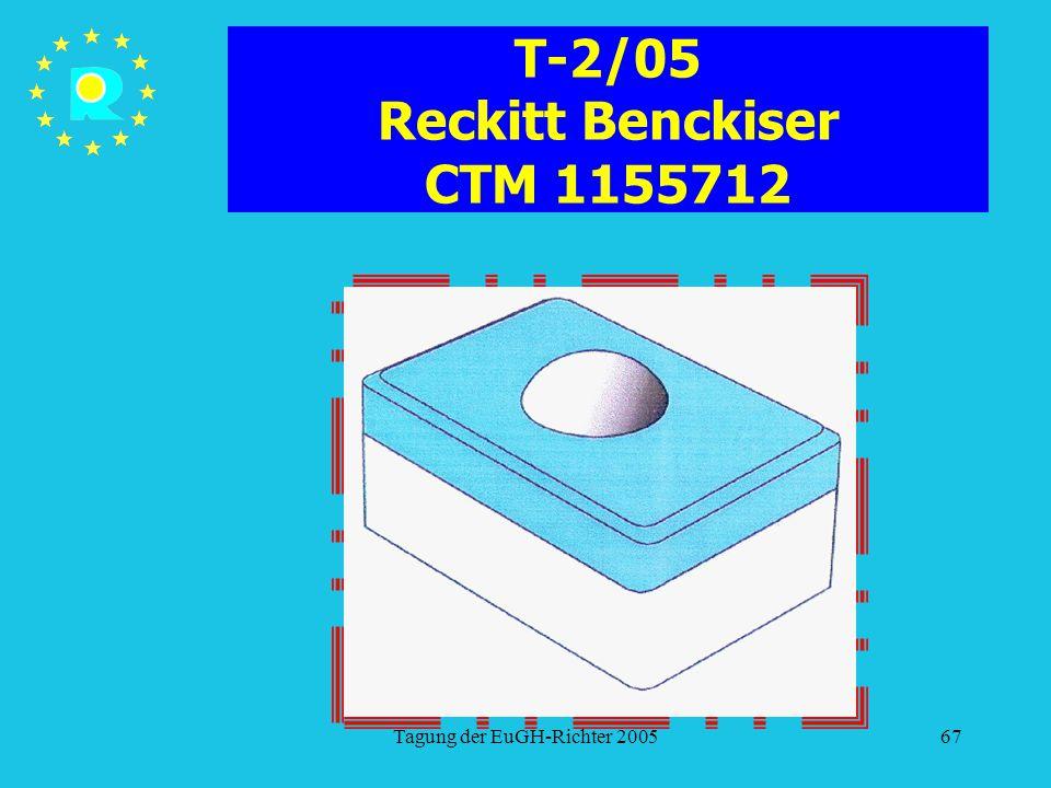 Tagung der EuGH-Richter 200567 T-2/05 Reckitt Benckiser CTM 1155712