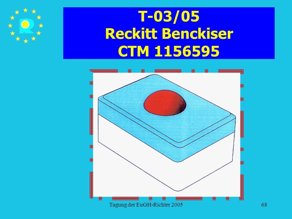 Tagung der EuGH-Richter 200568 T-03/05 Reckitt Benckiser CTM 1156595