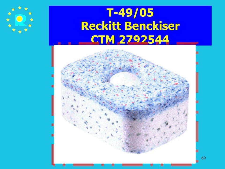 Tagung der EuGH-Richter 200569 T-49/05 Reckitt Benckiser CTM 2792544