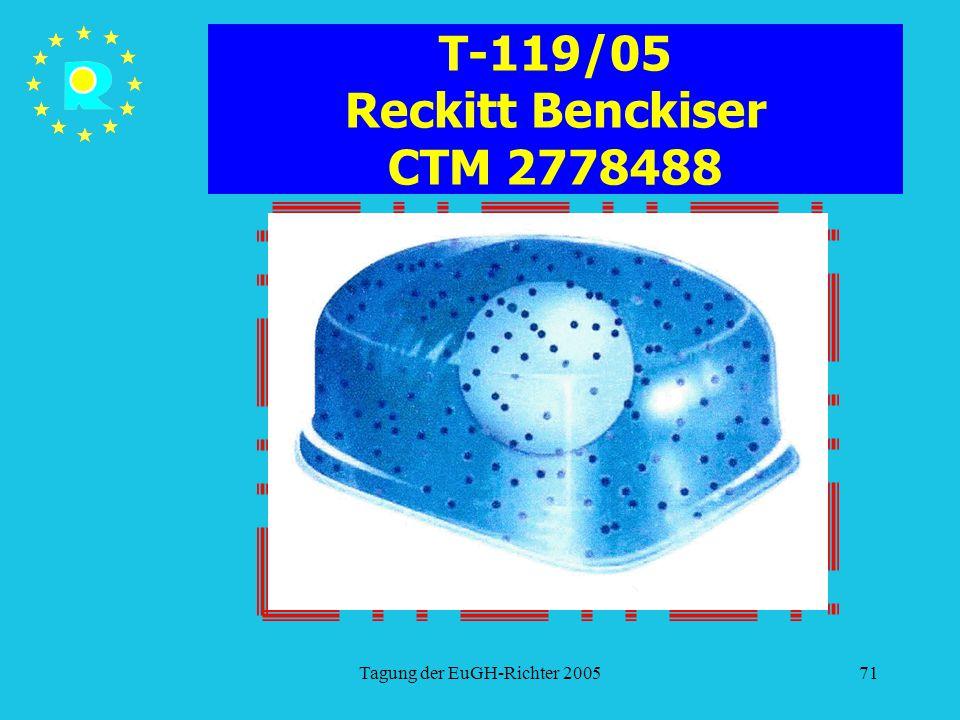 Tagung der EuGH-Richter 200571 T-119/05 Reckitt Benckiser CTM 2778488