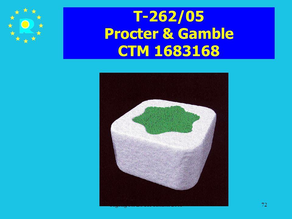 Tagung der EuGH-Richter 200572 T-262/05 Procter & Gamble CTM 1683168
