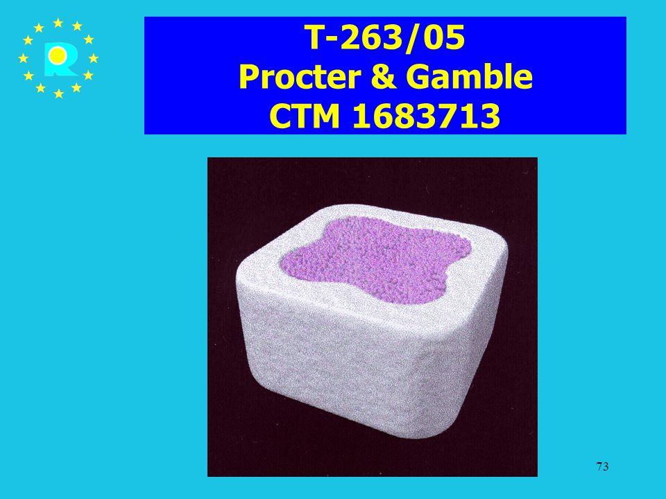 Tagung der EuGH-Richter 200573 T-263/05 Procter & Gamble CTM 1683713