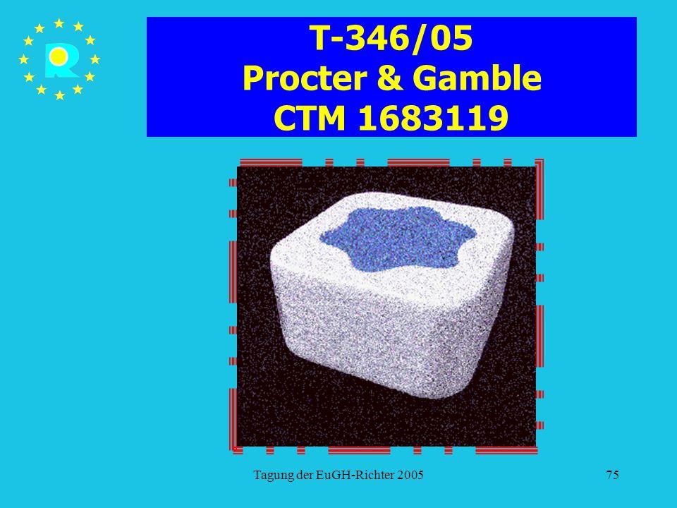 Tagung der EuGH-Richter 200575 T-346/05 Procter & Gamble CTM 1683119