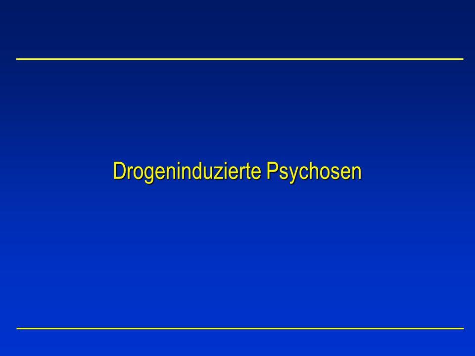 Substanzen mit Abhängigkeitspotential Alkohol Sedativa + Anxiolytika(Barbiturate, Tranquilizer) Cannabis(THC) Kokain(Kokain und Narkotika) Halluzinogene(LSD, Mescalin, Psilocybin, Phencyclidine) Opiate(Analgetika, Partialagonisten) Amphetamine + Ecstasy(Methylphenidate, MDMA) Inhalantien(Lösungsmittel, Gase, Treibstoffe)
