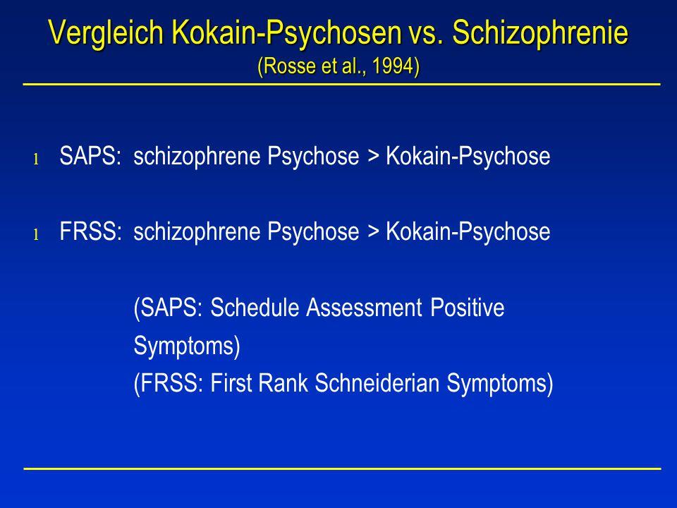Vergleich Kokain-Psychosen vs.
