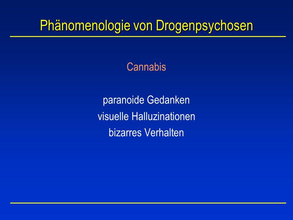 Cannabis und Schizophrenie (1) l Andreasson et al., 1984, 1989 Untersuchung von ca.