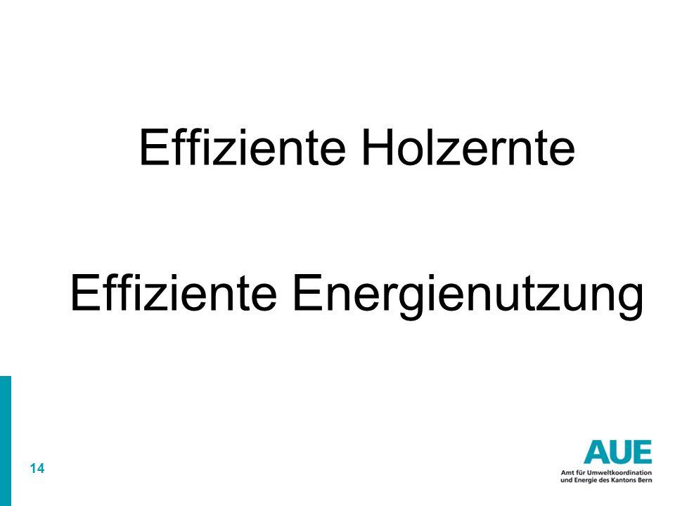 14 Effiziente Holzernte Effiziente Energienutzung