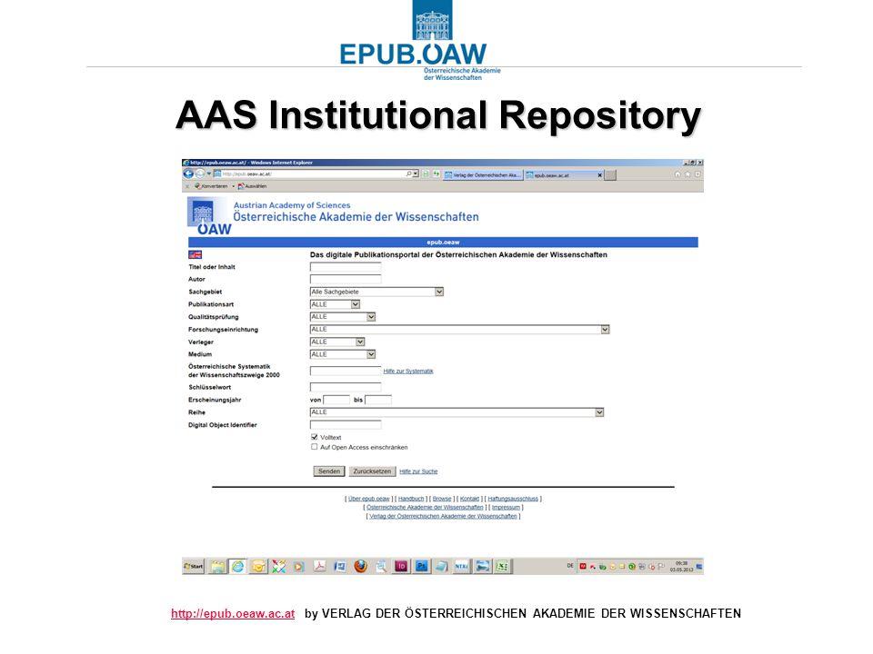 http://epub.oeaw.ac.athttp://epub.oeaw.ac.at by VERLAG DER ÖSTERREICHISCHEN AKADEMIE DER WISSENSCHAFTEN AAS Institutional Repository AAS Institutional