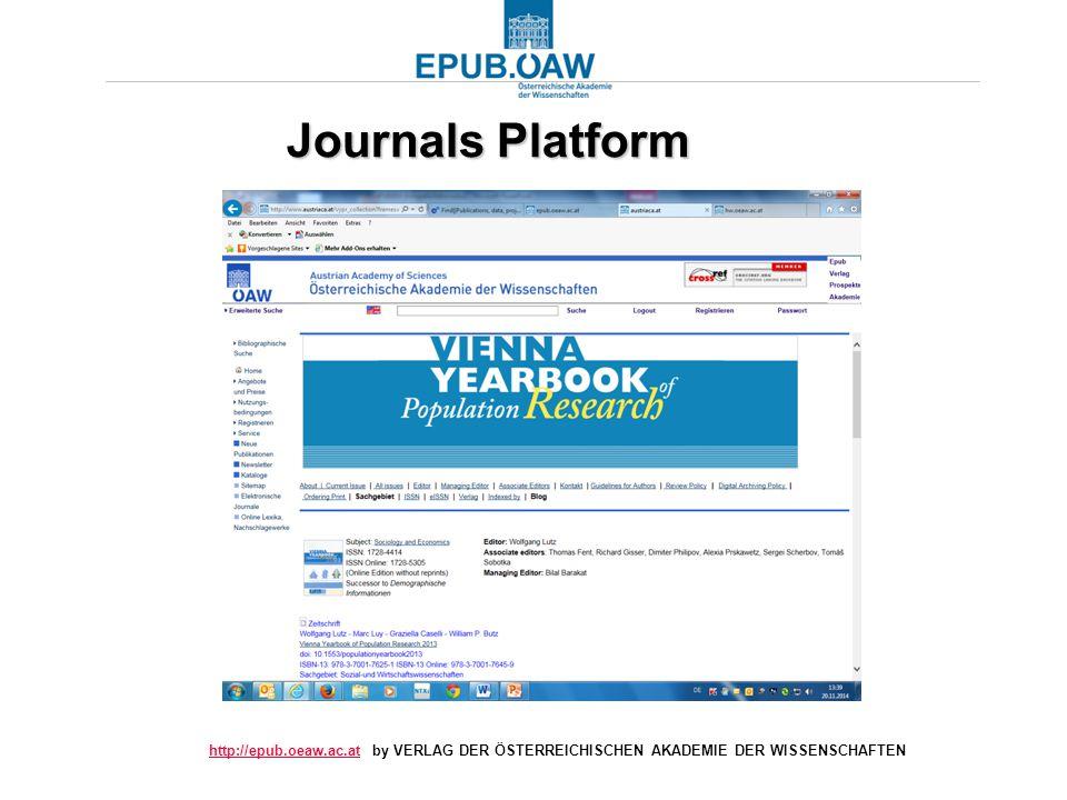 http://epub.oeaw.ac.athttp://epub.oeaw.ac.at by VERLAG DER ÖSTERREICHISCHEN AKADEMIE DER WISSENSCHAFTEN Journals Platform