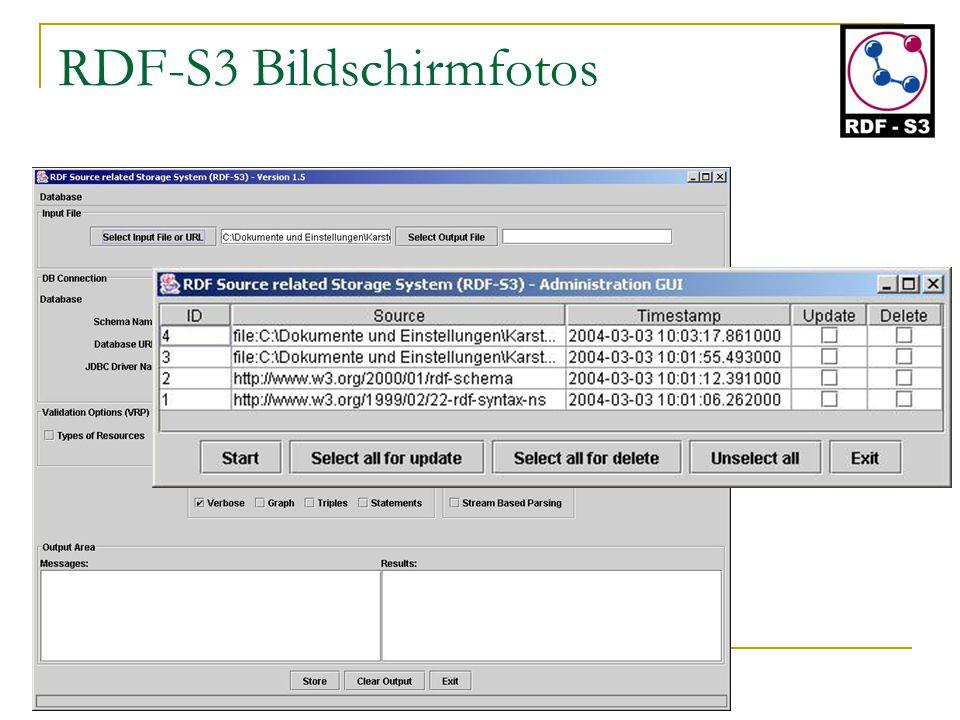 RDF-S3 Bildschirmfotos