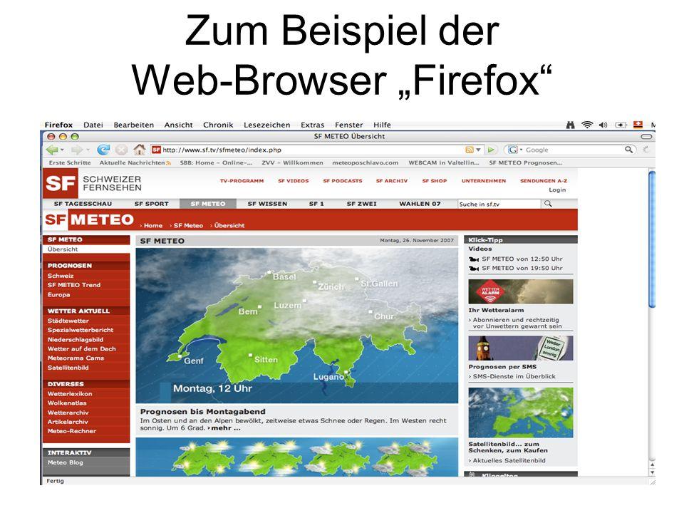 """Zum Beispiel der Web-Browser """"Firefox"""""""