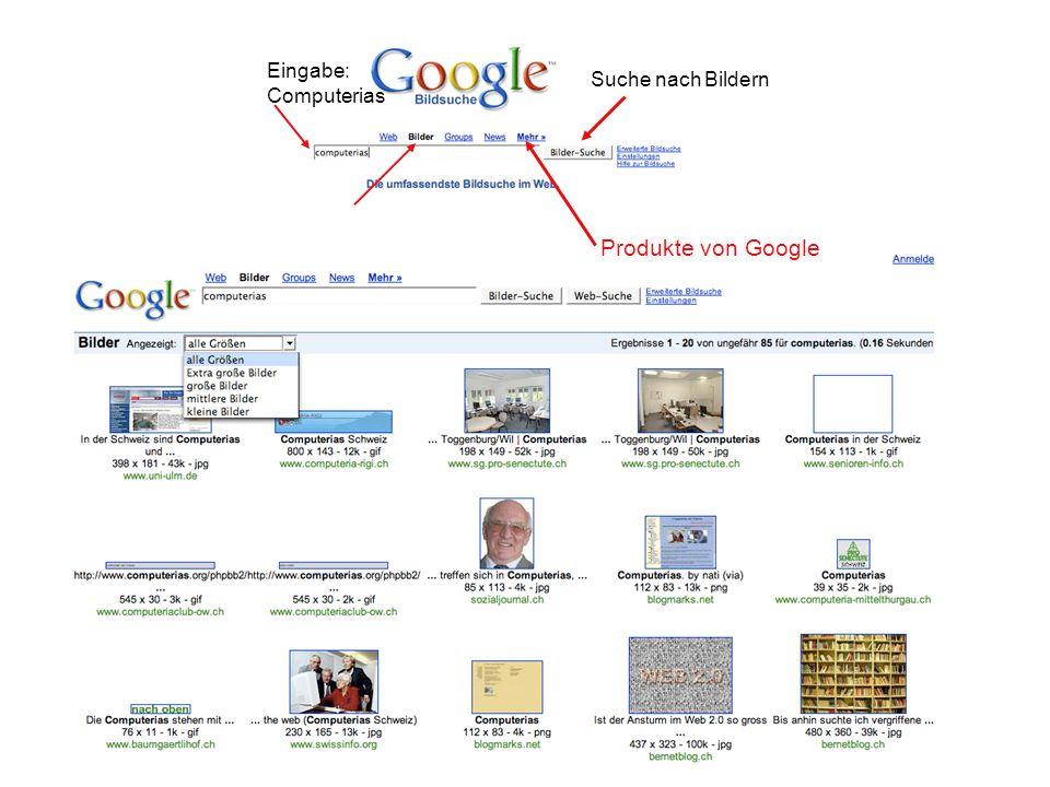 Suche nach Bildern Eingabe: Computerias Produkte von Google