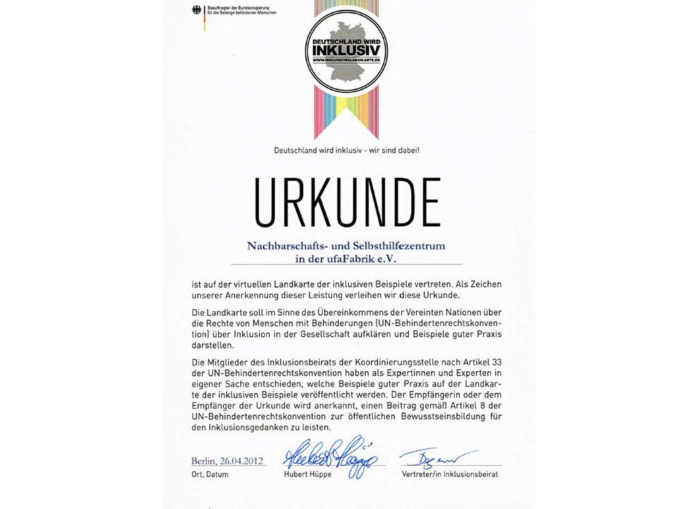 Tempelhof inklusiv Wissenschaftliche Begleitung und Evaluation durch Frau Dr.