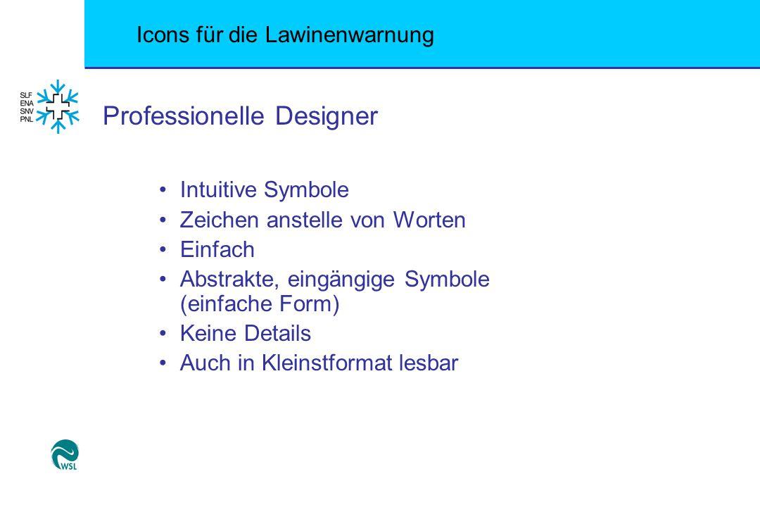 Icons für die Lawinenwarnung Professionelle Designer Intuitive Symbole Zeichen anstelle von Worten Einfach Abstrakte, eingängige Symbole (einfache For