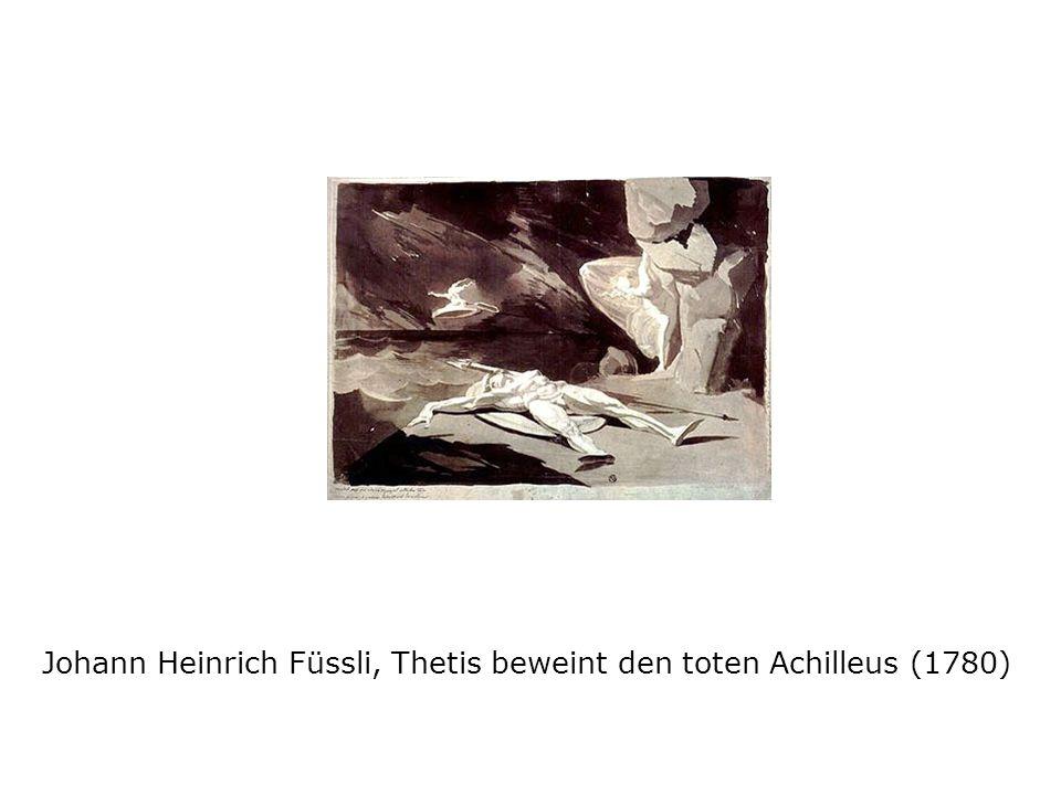 Johann Heinrich Füssli, Thetis beweint den toten Achilleus (1780)