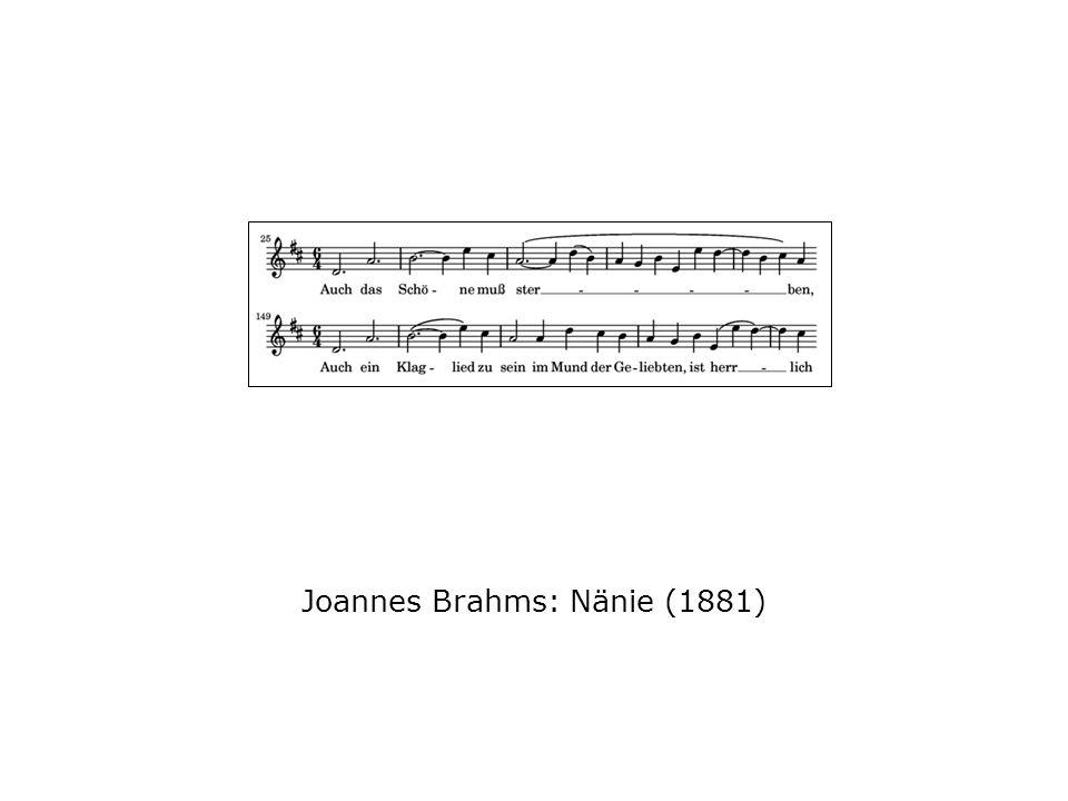 Joannes Brahms: Nänie (1881)