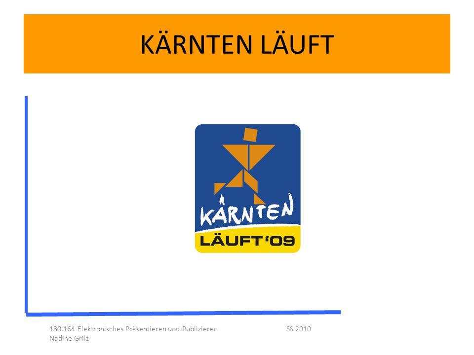 KÄRNTEN LÄUFT 180.164 Elektronisches Präsentieren und Publizieren SS 2010 Nadine Grilz