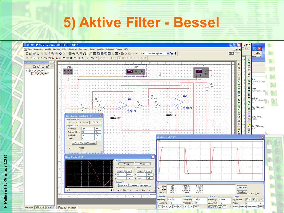 NI Multisim, HTL-Seminar, 2.2.2012 5) Aktive Filter - Bessel