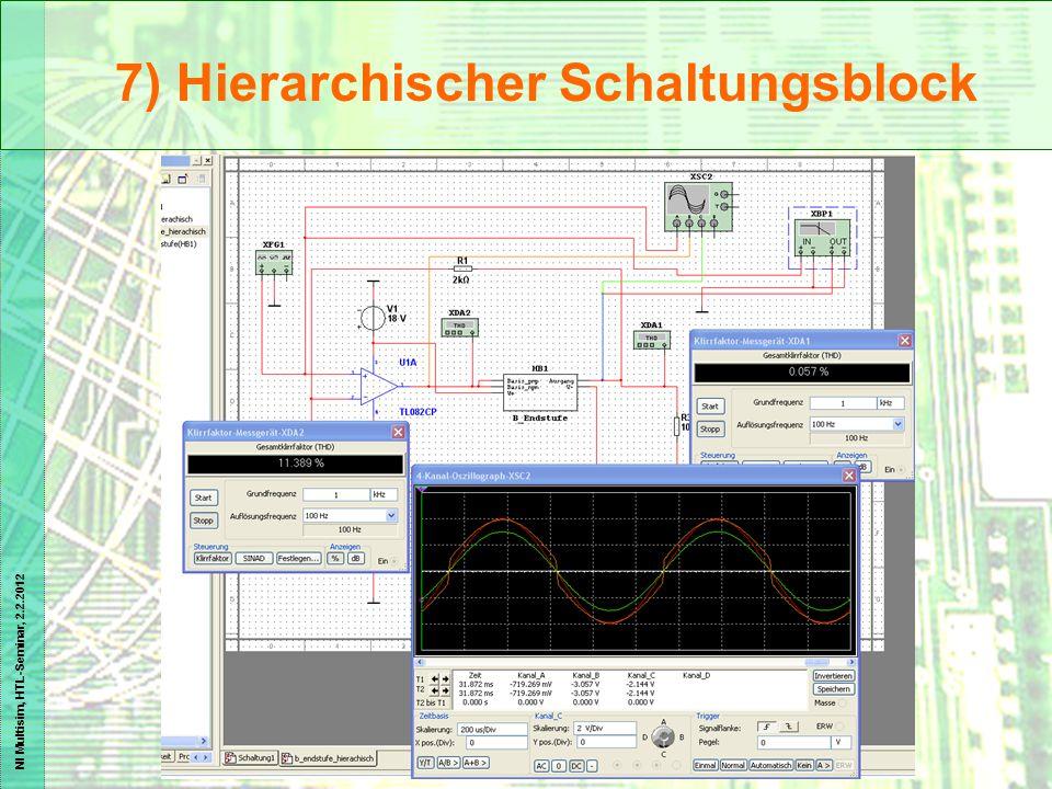 NI Multisim, HTL-Seminar, 2.2.2012 7) Hierarchischer Schaltungsblock