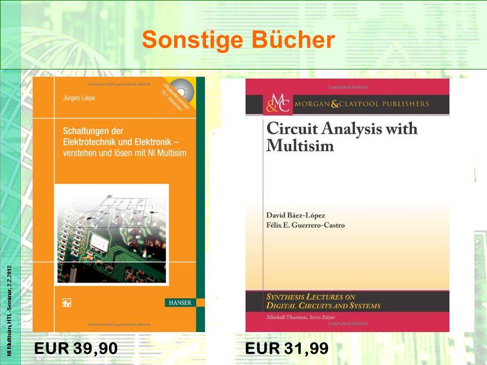 NI Multisim, HTL-Seminar, 2.2.2012 EUR 39,90EUR 31,99 Sonstige Bücher