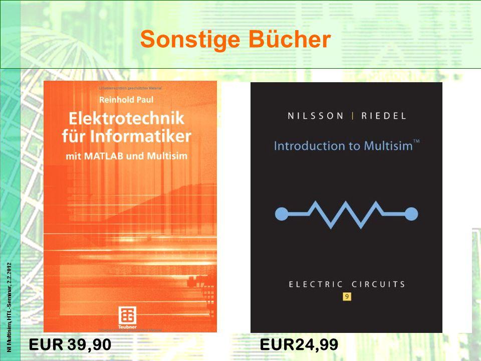 NI Multisim, HTL-Seminar, 2.2.2012 EUR 39,90EUR24,99 Sonstige Bücher