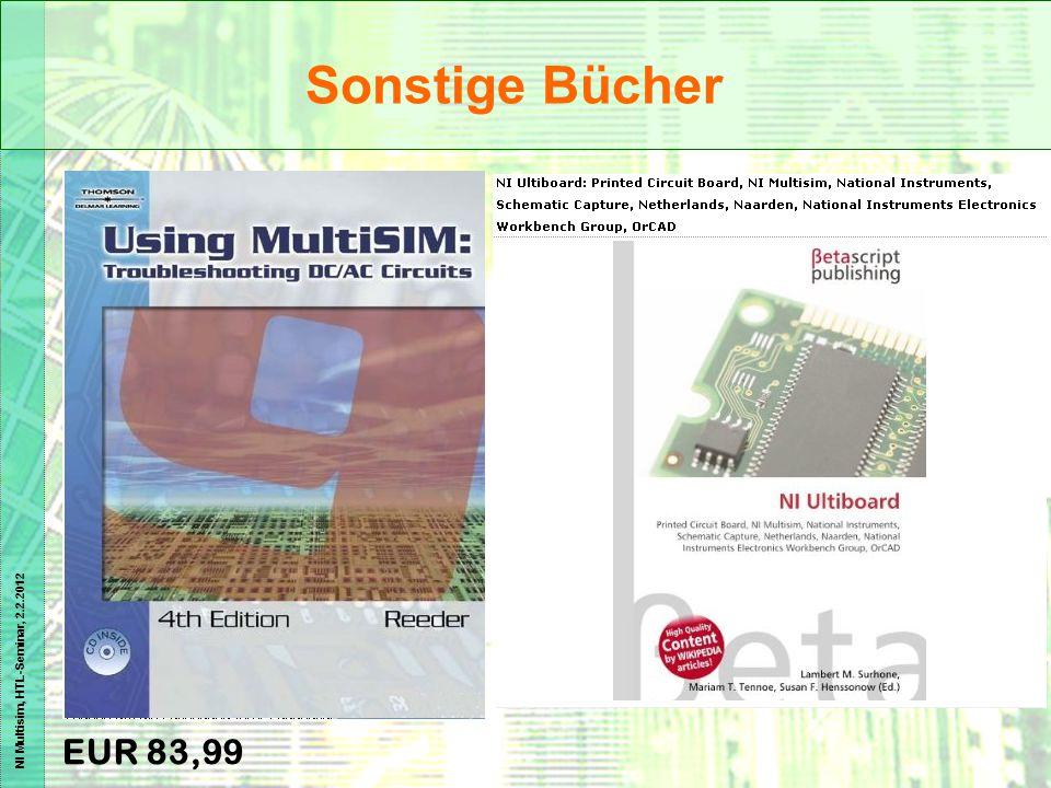 NI Multisim, HTL-Seminar, 2.2.2012 EUR 83,99 Sonstige Bücher