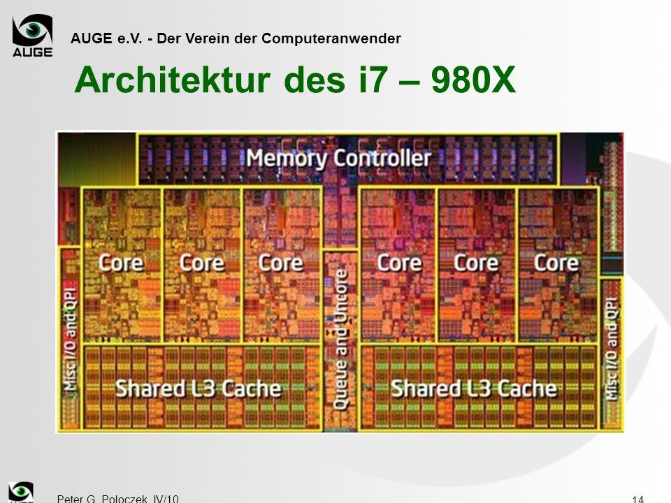 AUGE e.V. - Der Verein der Computeranwender Peter G. Poloczek, IV/10 14 Architektur des i7 – 980X