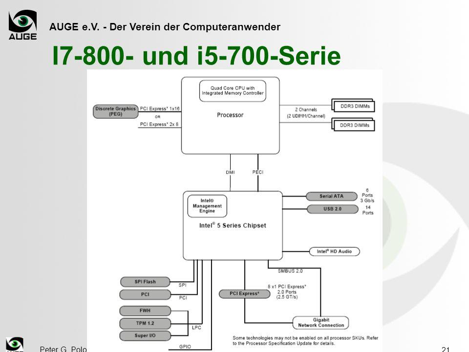 AUGE e.V. - Der Verein der Computeranwender Peter G. Poloczek, IV/10 21 I7-800- und i5-700-Serie