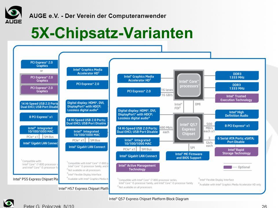 AUGE e.V. - Der Verein der Computeranwender Peter G. Poloczek, IV/10 26 5X-Chipsatz-Varianten