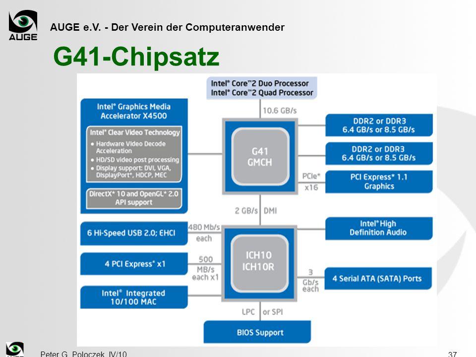 AUGE e.V. - Der Verein der Computeranwender Peter G. Poloczek, IV/10 37 G41-Chipsatz