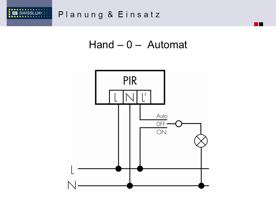 Hand – 0 – Automat P l a n u n g & E i n s a t z