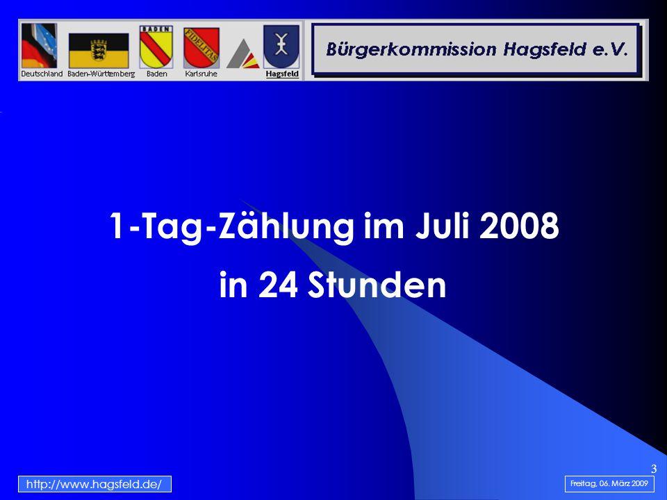 14 http://www.hagsfeld.de/ Freitag, 06. März 2009 Werte in 2008