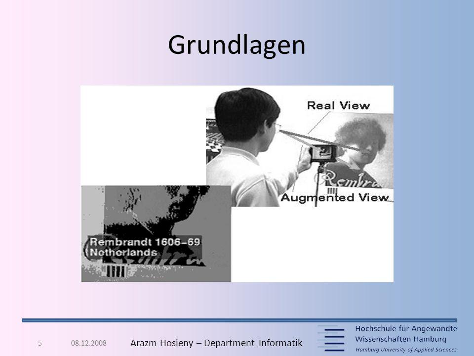 6 Arazm Hosieny – Department Informatik Grundlagen Wearable Computing – Head- Mounted- Display – Anzeigen von Zusatzinforma tionen auf dem Display 08.12.2008
