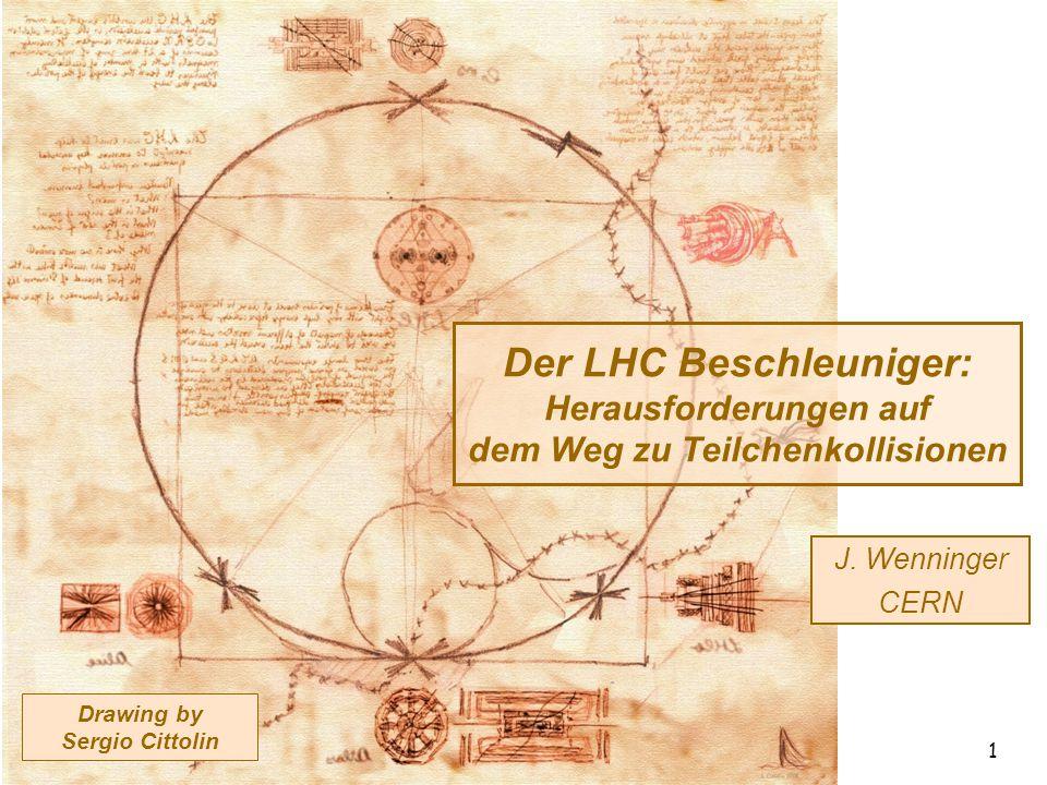 17.03.2010 Der LHC Beschleuniger - DPG - Bonn 1 Drawing by Sergio Cittolin Der LHC Beschleuniger: Herausforderungen auf dem Weg zu Teilchenkollisionen J.