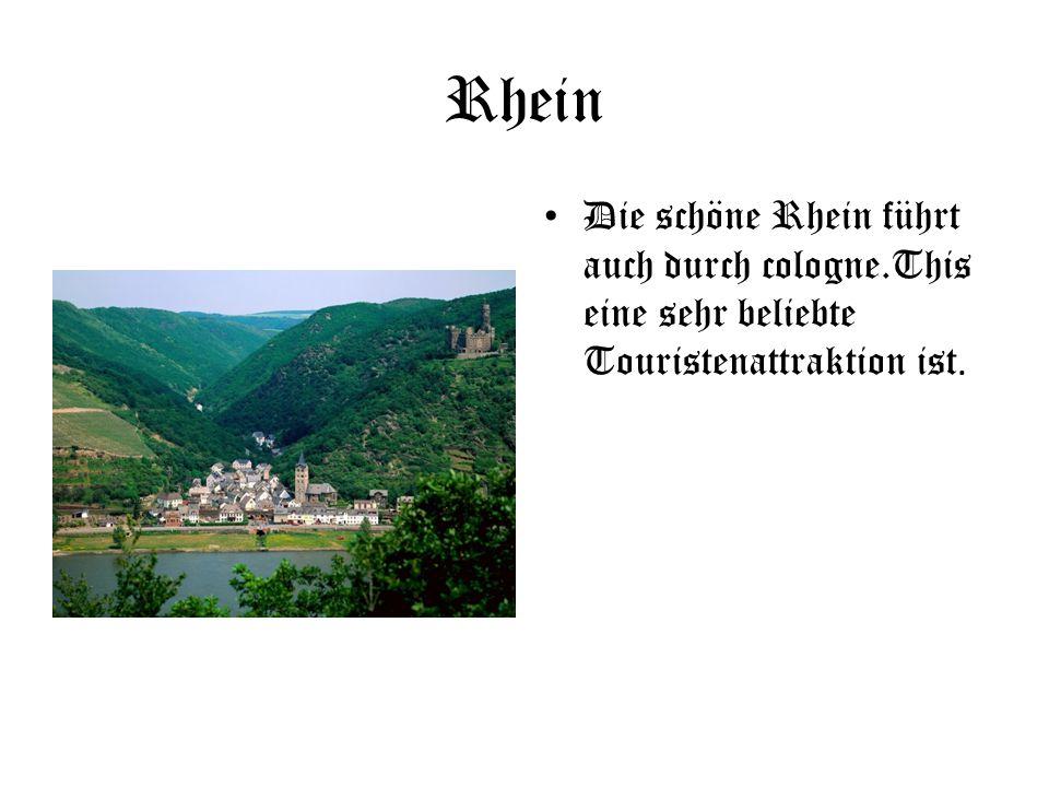 Rhein Die schöne Rhein führt auch durch cologne.This eine sehr beliebte Touristenattraktion ist.