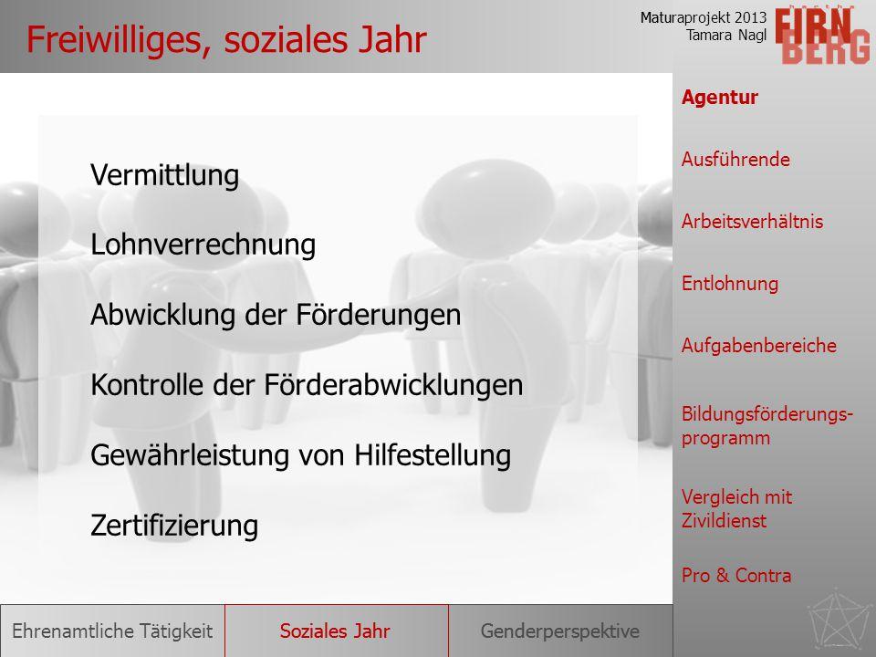 Maturaprojekt 2013 Tamara Nagl Forschungsfrage Status Quo Freiwilliges, soziales Jahr Bundesfreiwilligen- dienst Berufsheer statt Bundesheer Ehrenamtl